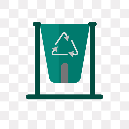 Recycling bin vector icon isolated on transparent background, Recycling bin logo concept