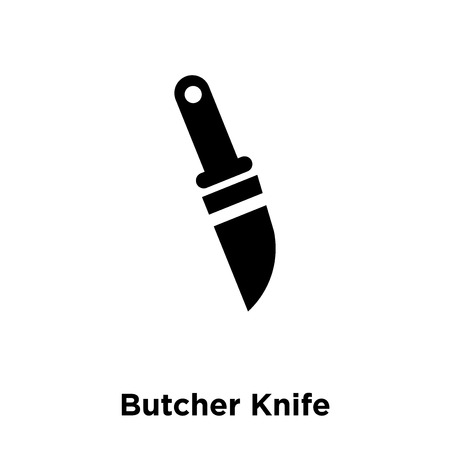 Butcher Knife icon vector isolated on white background, logo concept of Butcher Knife sign on transparent background, filled black symbol Ilustração