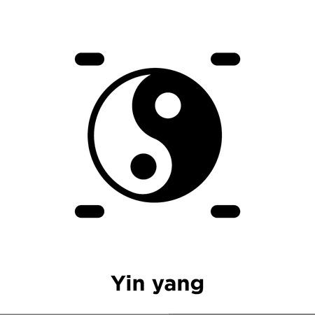 Yin yang icon vector isolated on white background, logo concept of Yin yang sign on transparent background, filled black symbol Illustration