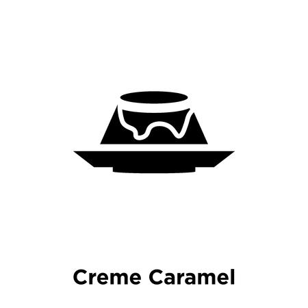 Creme Caramel icon vector isolated on white background, logo concept of Creme Caramel sign on transparent background, filled black symbol