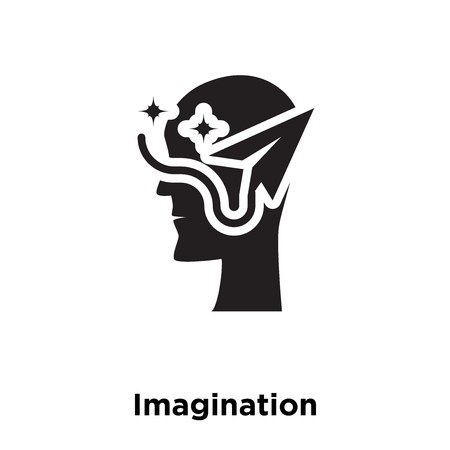 Imagination icon vector isolated on white background, logo concept of Imagination sign on transparent background, filled black symbol