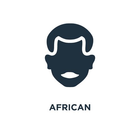 African icon. Black filled vector illustration. African symbol on white background. Can be used in web and mobile. Illustration