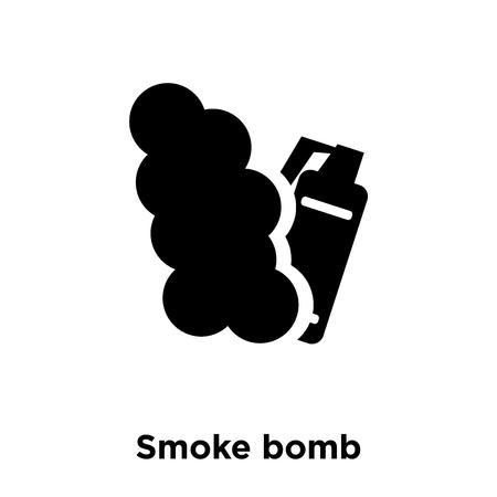 Smoke bomb icon vector isolated on white background, logo concept of Smoke bomb sign on transparent background, filled black symbol