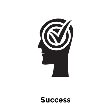 Success icon vector isolated on white background, logo concept of Success sign on transparent background, filled black symbol