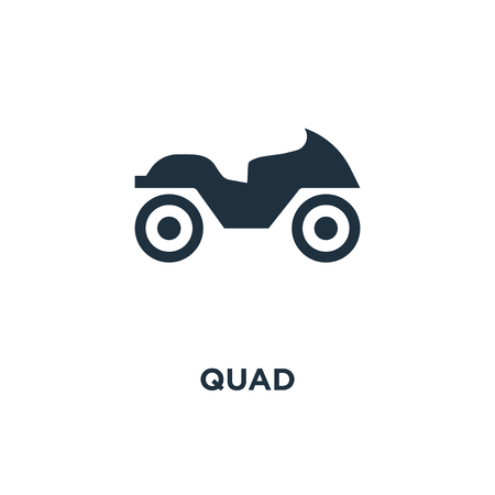 Quad icon. Black filled vector illustration. Quad symbol on white background. Can be used in web and mobile. Illustration