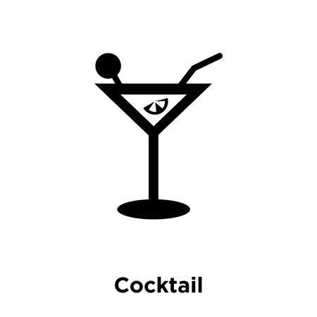Cocktail icon vector isolated on white background, logo concept of Cocktail sign on transparent background, filled black symbol Banco de Imagens - 111522611