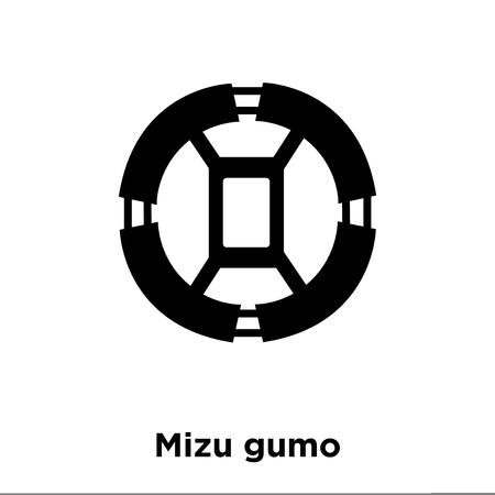Mizu gumo icon vector isolated on white background, logo concept of Mizu gumo sign on transparent background, filled black symbol