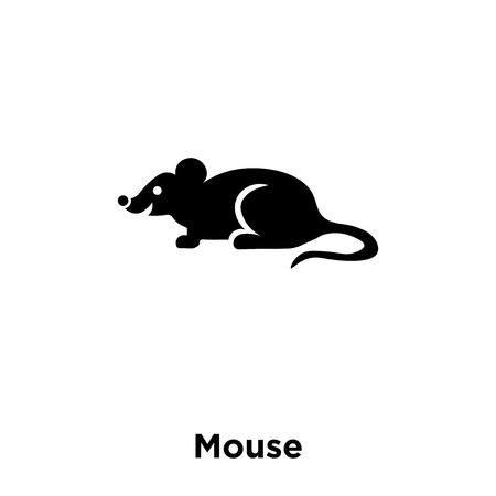 Mouse icon vector isolated on white background, logo concept of Mouse sign on transparent background, filled black symbol