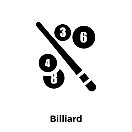 Billiard icon vector isolated on white background, logo concept of Billiard sign on transparent background, filled black symbol
