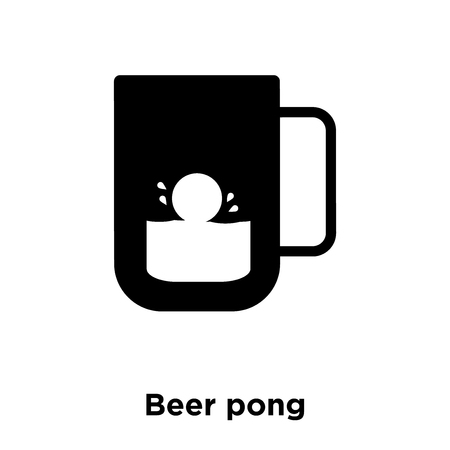 Beer pong icon vector isolated on white background, logo concept of Beer pong sign on transparent background, filled black symbol