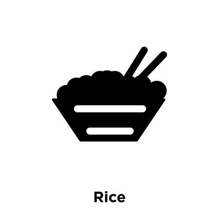 Rice icon vector isolated on white background, logo concept of Rice sign on transparent background, filled black symbol Standard-Bild - 111527351