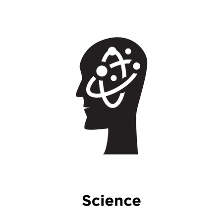 Science icon vector isolated on white background, logo concept of Science sign on transparent background, filled black symbol