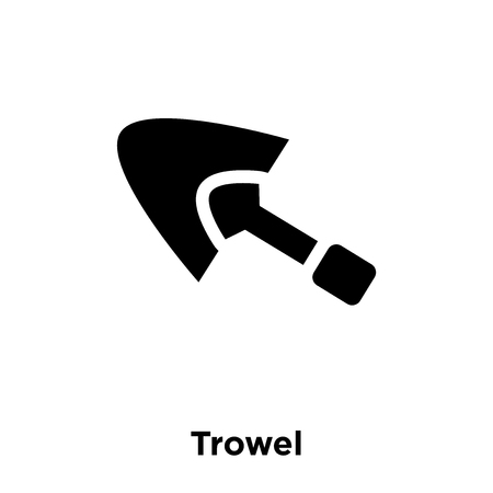 Trowel icon vector isolated on white background, logo concept of Trowel sign on transparent background, filled black symbol