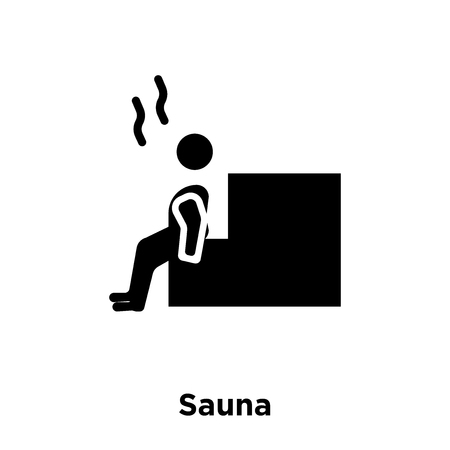 Sauna icon vector isolated on white background, logo concept of Sauna sign on transparent background, filled black symbol Illustration