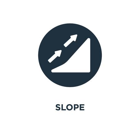 Icône de pente. Illustration vectorielle remplie de noir. Symbole de pente sur fond blanc. Peut être utilisé dans le Web et le mobile.