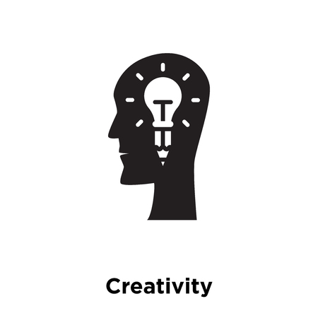 Creativity icon vector isolated on white background, logo concept of Creativity sign on transparent background, filled black symbol