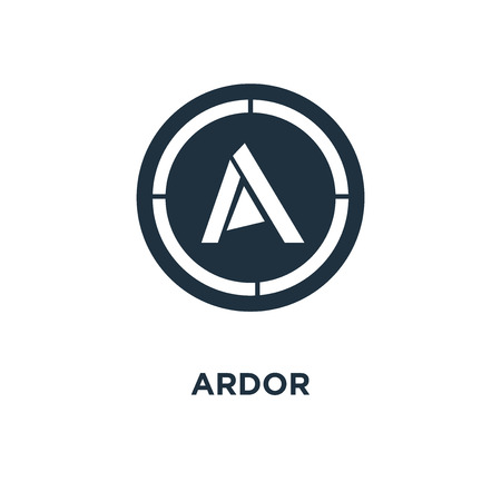 Ardor icon. Black filled vector illustration. Ardor symbol on white background. Can be used in web and mobile. Illustration