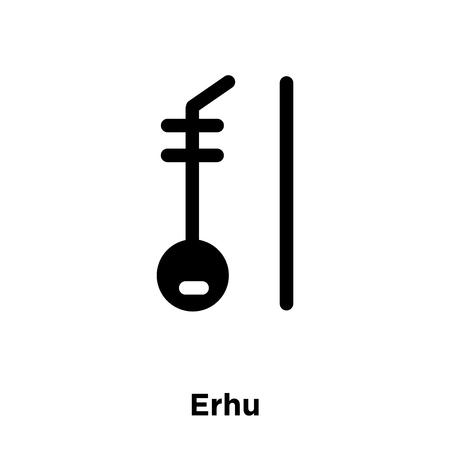 Erhu icon vector isolated on white background, logo concept of Erhu sign on transparent background, filled black symbol Ilustração