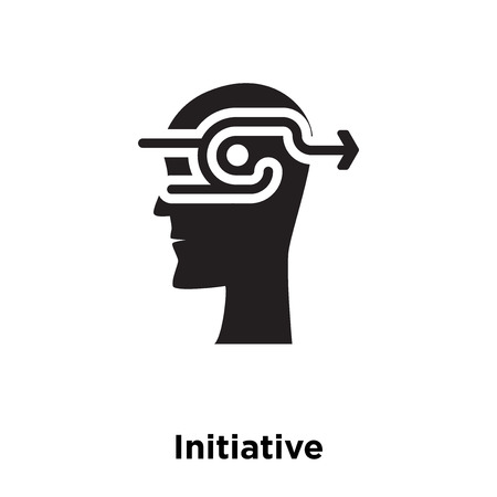 Initiative icon vector isolated on white background, logo concept of Initiative sign on transparent background, filled black symbol
