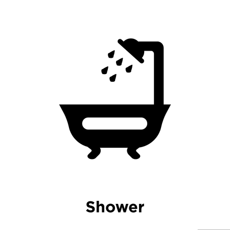 Shower icon vector isolated on white background, logo concept of Shower sign on transparent background, filled black symbol