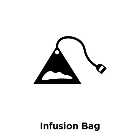 Infusion Bag icon vector isolated on white background, logo concept of Infusion Bag sign on transparent background, filled black symbol
