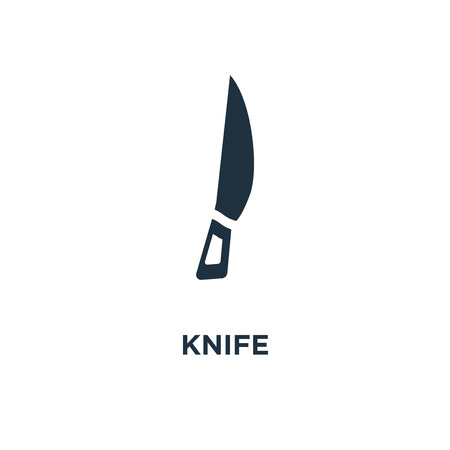 Knife icon. Black filled vector illustration. Knife symbol on white background. Can be used in web and mobile.