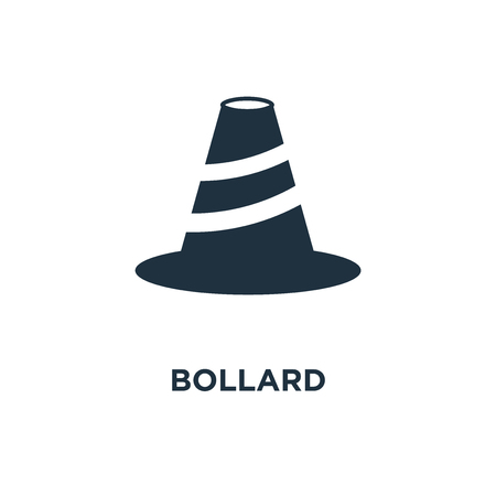 Bollard icon. Black filled vector illustration. Bollard symbol on white background. Can be used in web and mobile.  イラスト・ベクター素材
