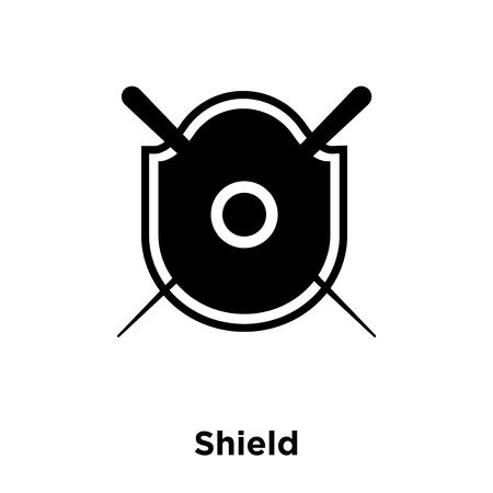 Shield icon vector isolated on white background, logo concept of Shield sign on transparent background, filled black symbol Ilustração