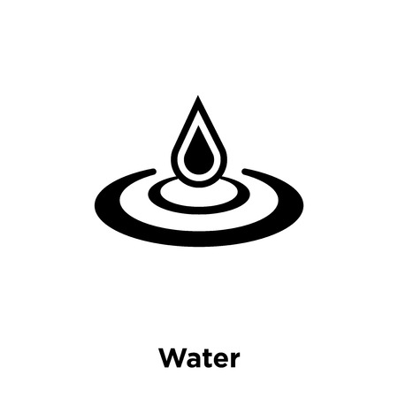 Water icon vector isolated on white background, logo concept of Water sign on transparent background, filled black symbol