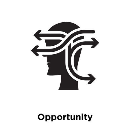 Opportunity icon vector isolated on white background, logo concept of Opportunity sign on transparent background, filled black symbol