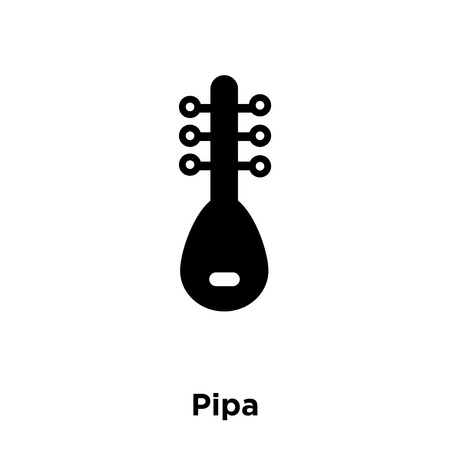 Pipa icon vector isolated on white background, logo concept of Pipa sign on transparent background, filled black symbol