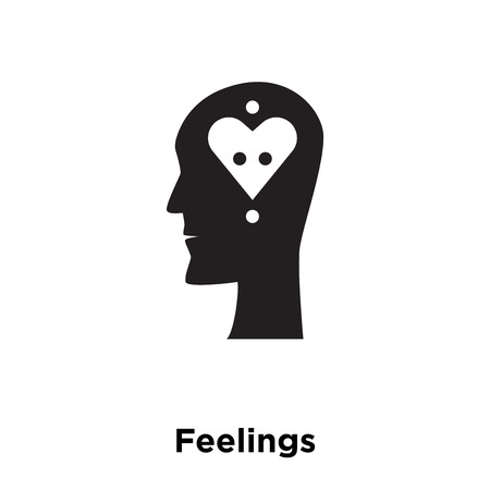 Feelings icon vector isolated on white background, logo concept of Feelings sign on transparent background, filled black symbol