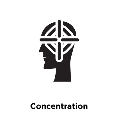 Concentration icon vector isolated on white background, logo concept of Concentration sign on transparent background, filled black symbol