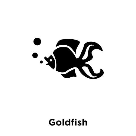 Goldfish icon vector isolated on white background, logo concept of Goldfish sign on transparent background, filled black symbol