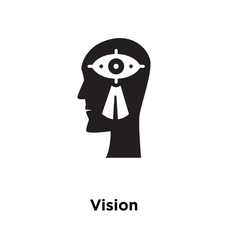 Vision icon vector isolated on white background, logo concept of Vision sign on transparent background, filled black symbol