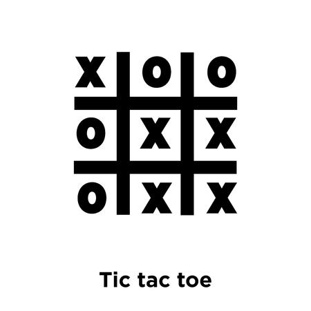 Tic Tac Toe Icon Vektor lokalisiert auf weißem Hintergrund, Logo-Konzept von Tic Tac Toe Zeichen auf transparentem Hintergrund, gefülltes schwarzes Symbol Logo