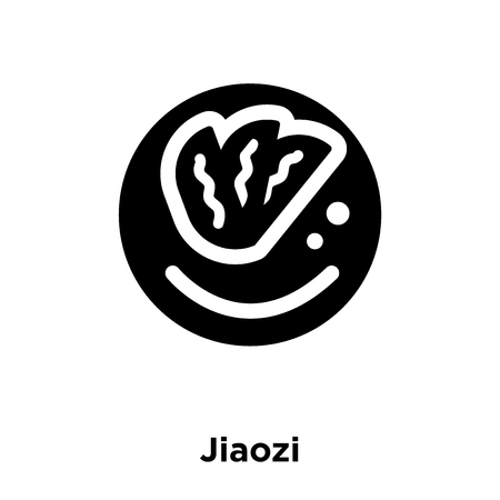 Jiaozi icon vector isolated on white background, logo concept of Jiaozi sign on transparent background, filled black symbol