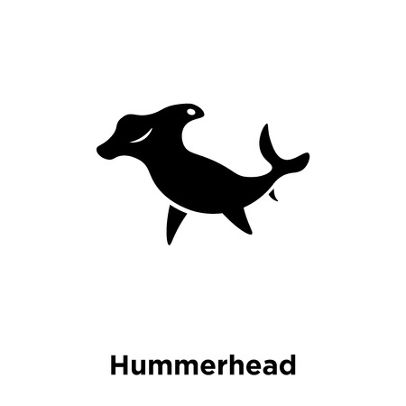 Hummerhead icon vector isolated on white background, logo concept of Hummerhead sign on transparent background, filled black symbol 矢量图像