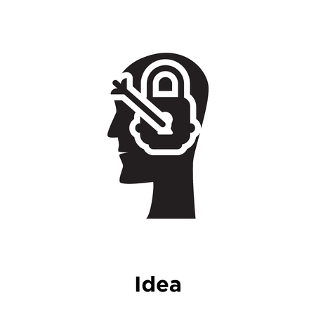Idea icon vector isolated on white background, logo concept of Idea sign on transparent background, filled black symbol