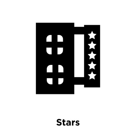 Stars icon vector isolated on white background, logo concept of Stars sign on transparent background, filled black symbol