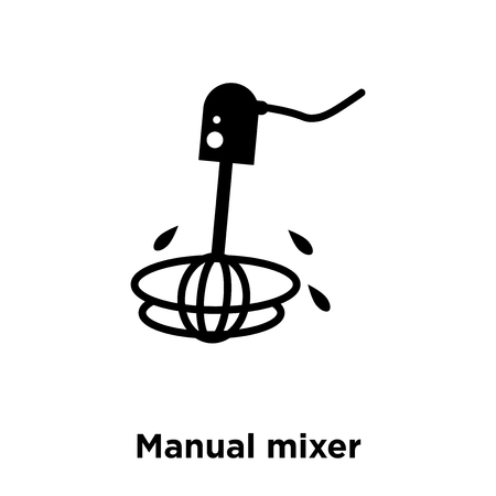 Manual mixer icon vector isolated on white background, logo concept of Manual mixer sign on transparent background, filled black symbol