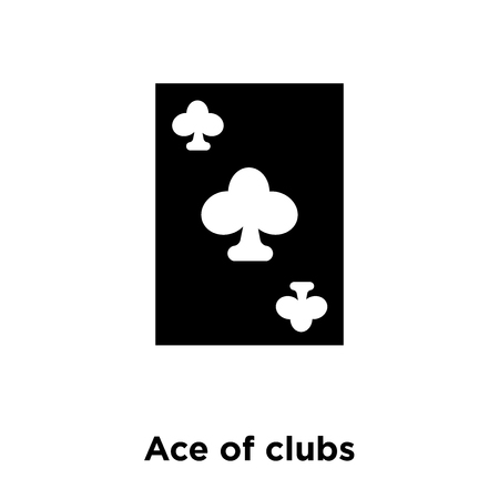 Ace of clubs icon vector isolated on white background, logo concept of Ace of clubs sign on transparent background, filled black symbol Illustration