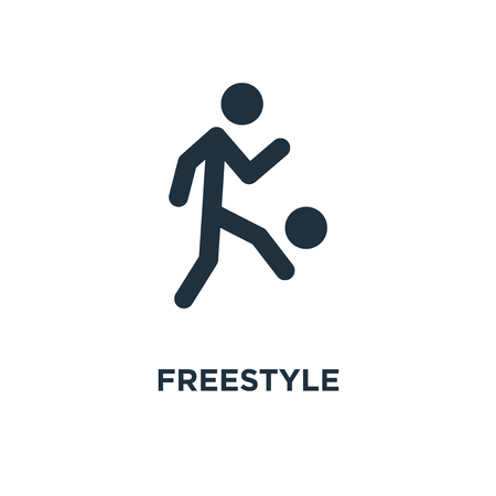 Freestyle icon. Black filled vector illustration. Freestyle symbol on white background. Can be used in web and mobile.
