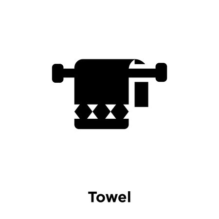 Towel icon vector isolated on white background, logo concept of Towel sign on transparent background, filled black symbol