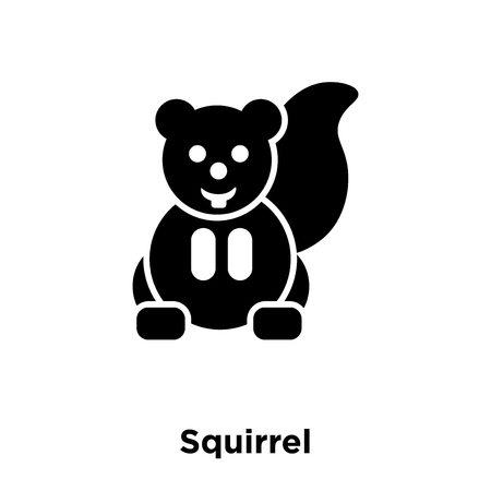 Squirrel icon vector isolated on white background, logo concept of Squirrel sign on transparent background, filled black symbol