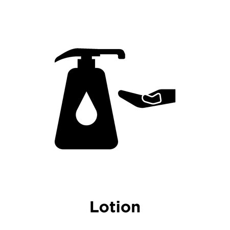 Lotion icon vector isolated on white background, logo concept of Lotion sign on transparent background, filled black symbol