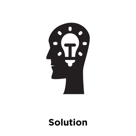 Solution icon vector isolated on white background, logo concept of Solution sign on transparent background, filled black symbol Illustration