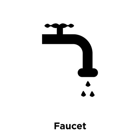 Faucet icon vector isolated on white background, logo concept of Faucet sign on transparent background, filled black symbol Illustration