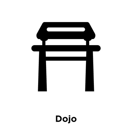 Dojo icon vector isolated on white background, logo concept of Dojo sign on transparent background, filled black symbol