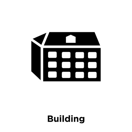 Building icon vector isolated on white background, logo concept of Building sign on transparent background, filled black symbol